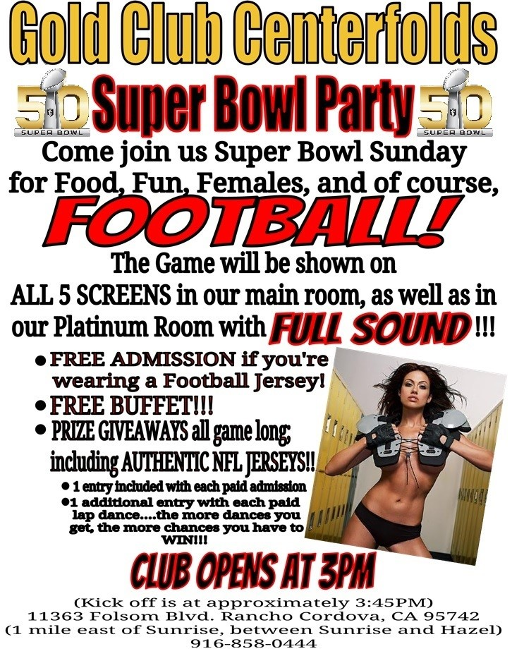 Gold Club Centerfolds Superbowl